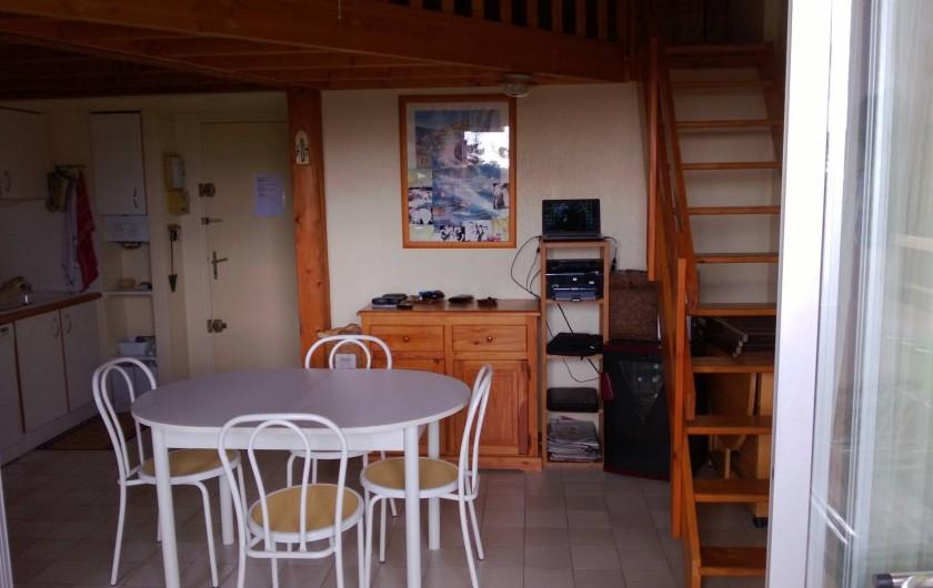 Location de vacances - Appartement à Le Cap d'Agde - LA PIECE A VIVRE VUE DU BALCON