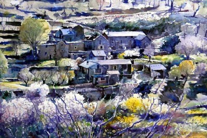 Location de vacances - Gîte à Sablières - Montségur: aquarelle de Bert Nienhuis