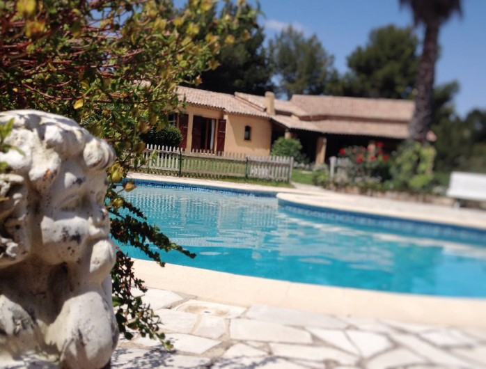 Location de vacances - Villa à Le Castellet - Piscine et plage et pool house.