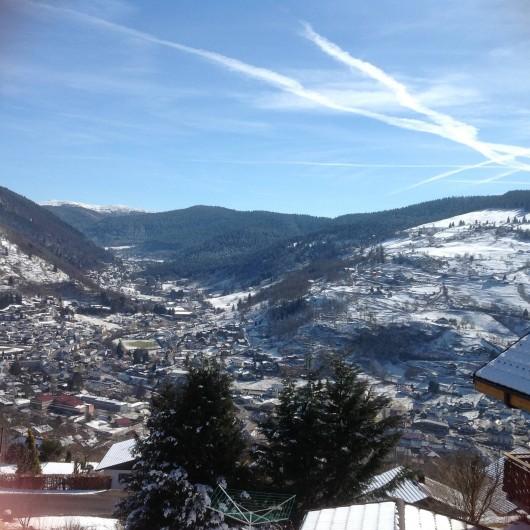 Location de vacances - Chalet à La Bresse - Vue sur la ville de la Bresse  depuis le chalet