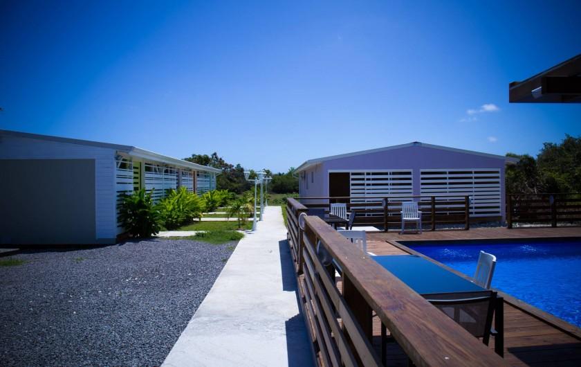 Location de vacances - Gîte à Saint-François - Gîtes la simoniere : piscine et studio