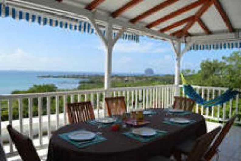 Location de vacances - Villa à Le Diamant - vue de la terrasse