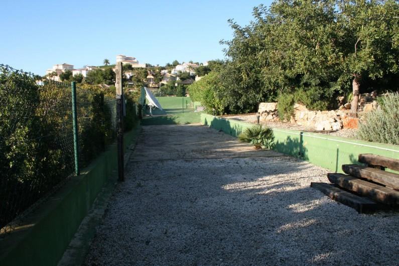 Location de vacances - Villa à Xàbia - terrain de pétanque