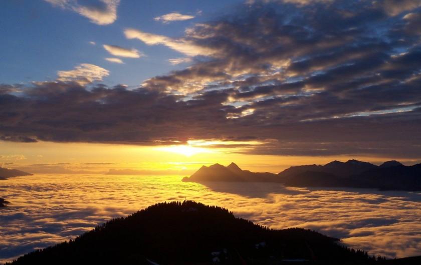 Location de vacances - Chalet à Les Saisies - Mer de nuages prise depuis le Mont Bisanne
