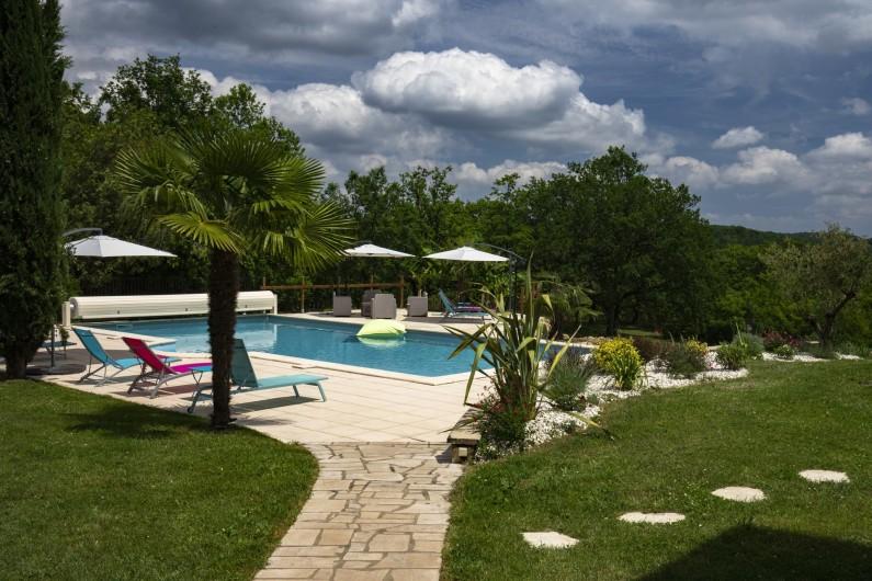 Location de vacances - Chambre d'hôtes à Simeyrols - Piscine