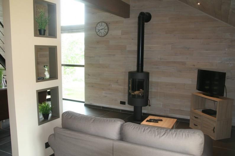 Location de vacances - Gîte à Wodecq - Foyer d'ambiance à commande à distance.