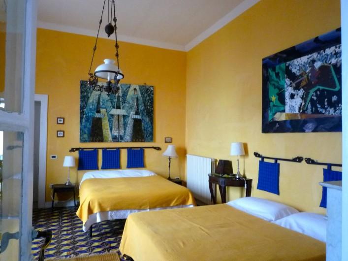 Location de vacances - Villa à Massa Lubrense - Chambre citron