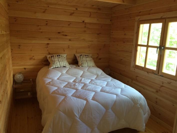 Location de vacances - Chambre d'hôtes à Saint-Barthélémy-Grozon - La chambre parents  de la maison d'hôtes familiale Domaine de Plantât
