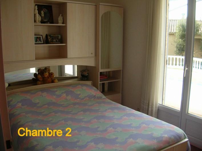 Location de vacances - Villa à Vers-Pont-du-Gard - Chambre 2 avec couchage double