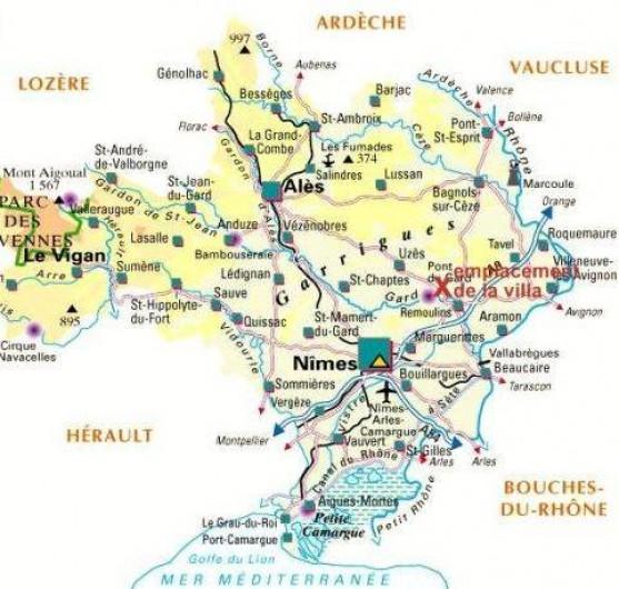 Location de vacances - Villa à Vers-Pont-du-Gard - Située entre Provence-Camargue-Cévennes. Entre mer et montagne