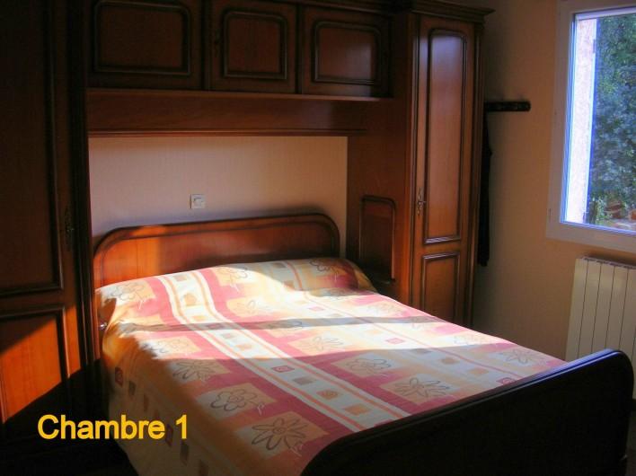 Location de vacances - Villa à Vers-Pont-du-Gard - Chambre 1 avec couchage double