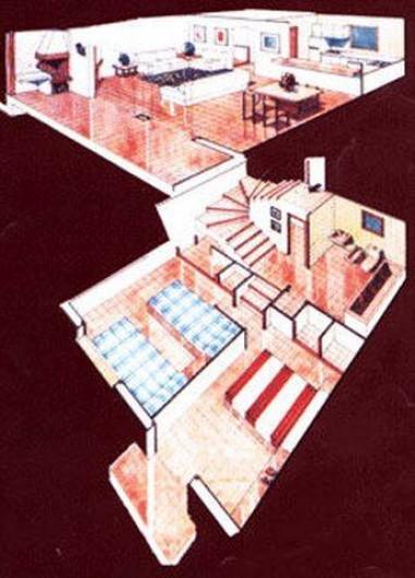 Location de vacances - Appartement à Roses - Plan de l'appartement.