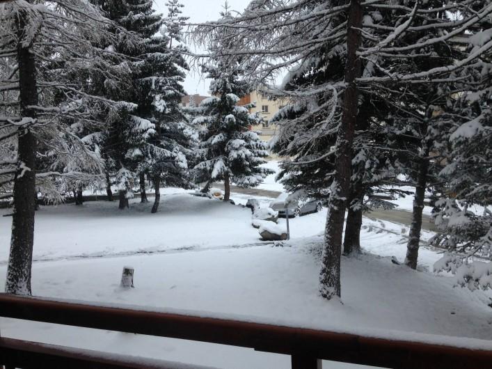 Location de vacances - Appartement à Les Deux Alpes - Vue depuis le balcon