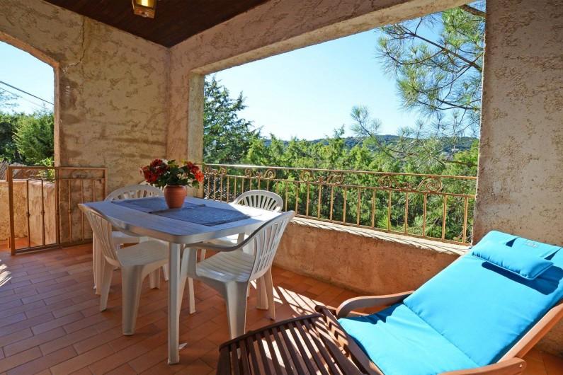 Location de vacances - Villa à Porto-Vecchio - TERRASSE COUVERTE villa 5 ou 6
