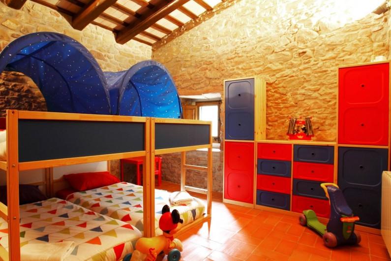 Location de vacances - Mas à Gérone - Chambre 1e étage (4 lits decorée enfants)