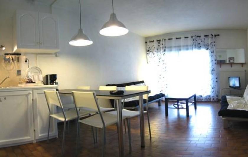 Location de vacances - Appartement à Saint-Cyprien Plage - salon (couchage canapés)