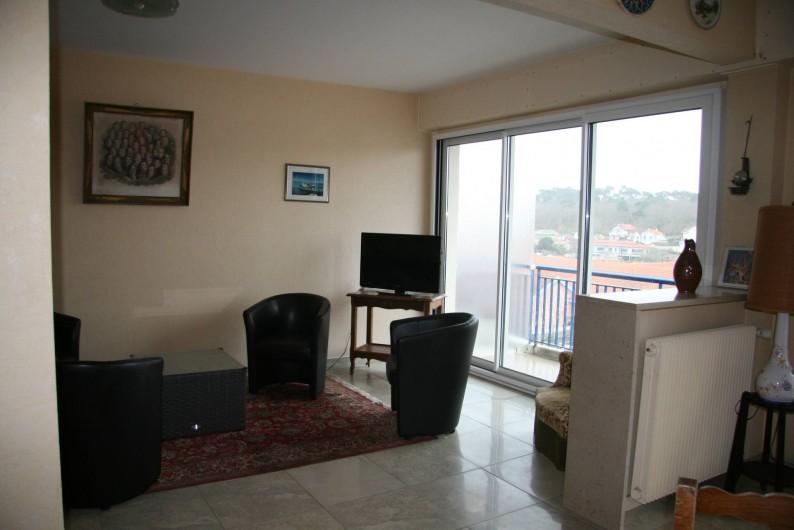 Location de vacances - Appartement à Arcachon - Partie salon du séjour