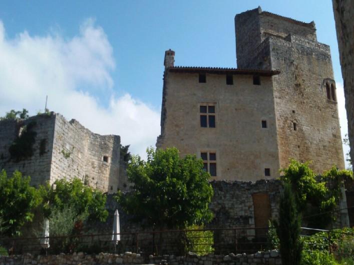 Location de vacances - Gîte à Le Poët-Laval - Vue depuis les terrasses/ Château du XIIème siècle