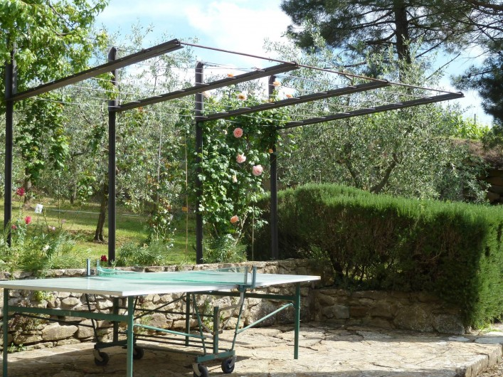 Location de vacances - Appartement à Greve in Chianti - Cuisine avec cheminé