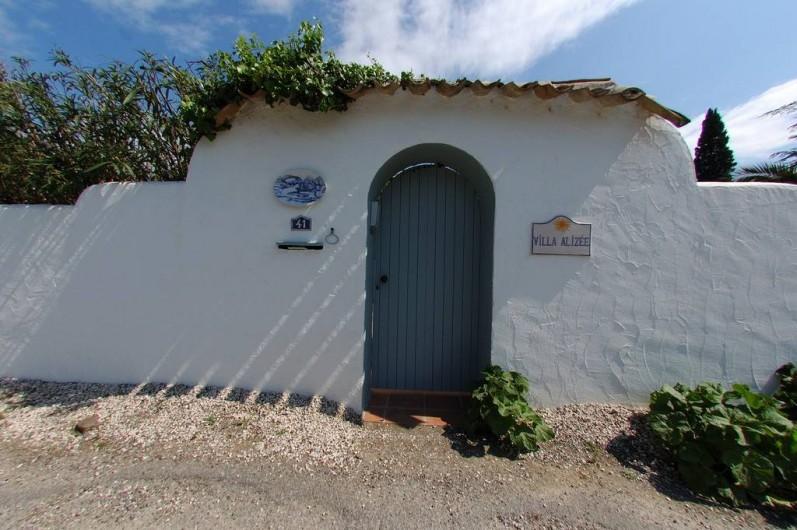 Location de vacances - Villa à Saint-Tropez - Entrée visiteur