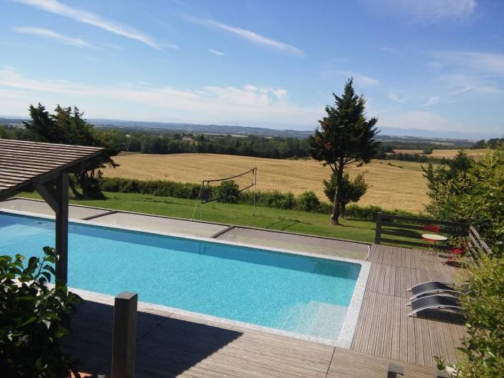 Location de vacances - Gîte à Carcassonne - Vue sur Pyrénées plein sud