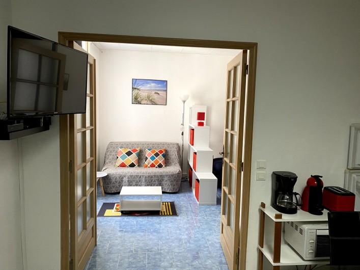 Location de vacances - Appartement à Saint-Raphaël - canape + lit