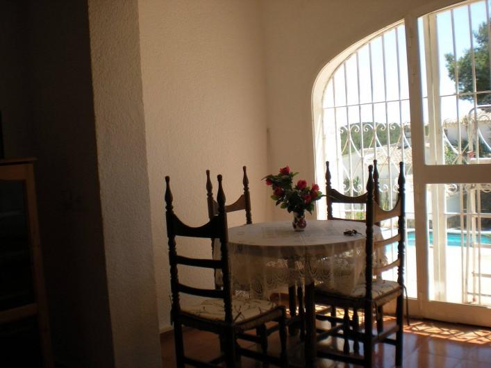 Location de vacances - Villa à Xàbia - coin repas