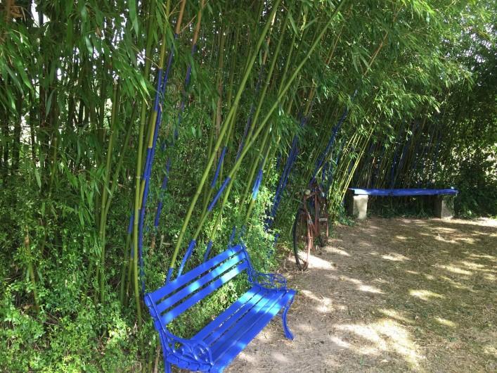 Location de vacances - Gîte à Saint-Rabier - Terrasse privative sous le figuier