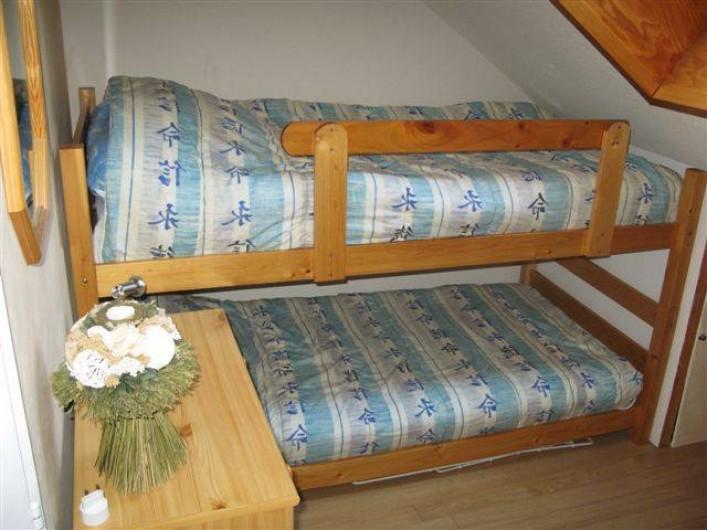 Location de vacances - Appartement à Saint-Sorlin-d'Arves - Mezzanine 2 lits superposés  90 cm