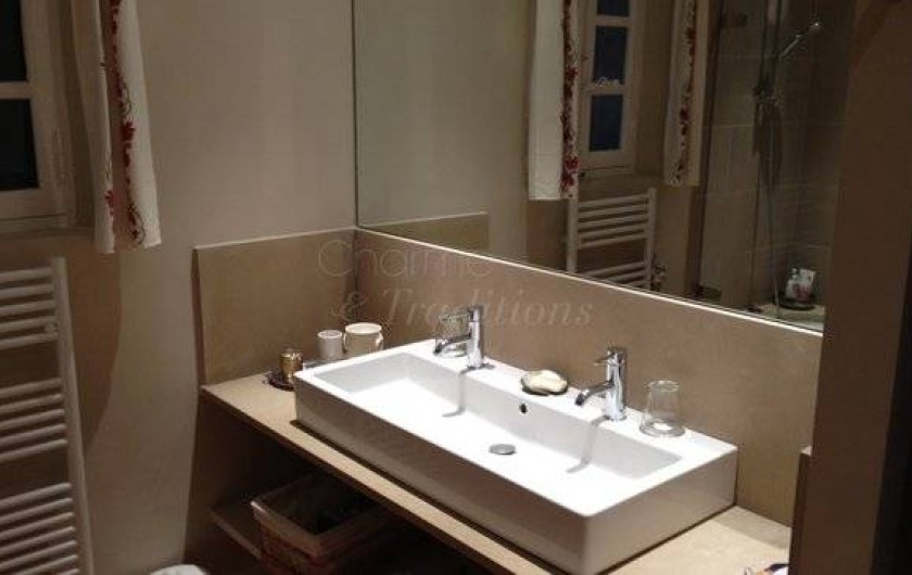 Location de vacances - Chambre d'hôtes à Saint-Tropez - Salle de bain Master bed-room