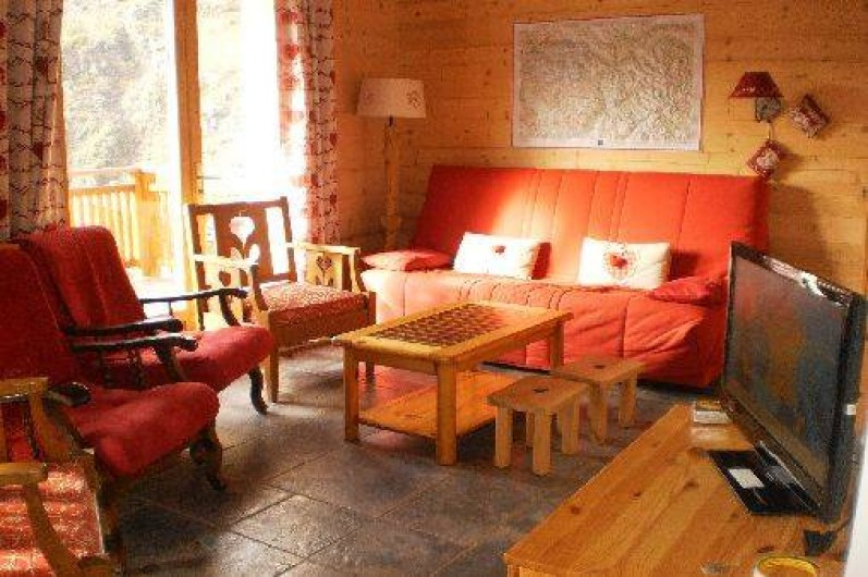 Location de vacances - Chalet à Mizoën - salon