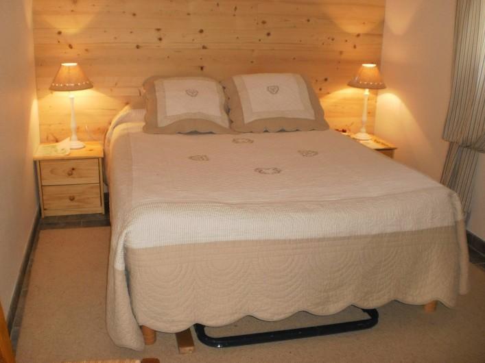 Location de vacances - Chalet à Mizoën - chambre 1 lit double