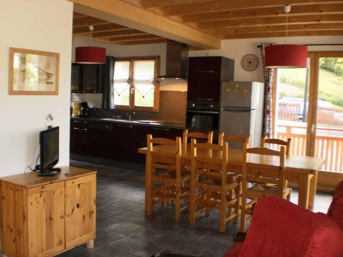 Location de vacances - Chalet à Mizoën - salle à manger
