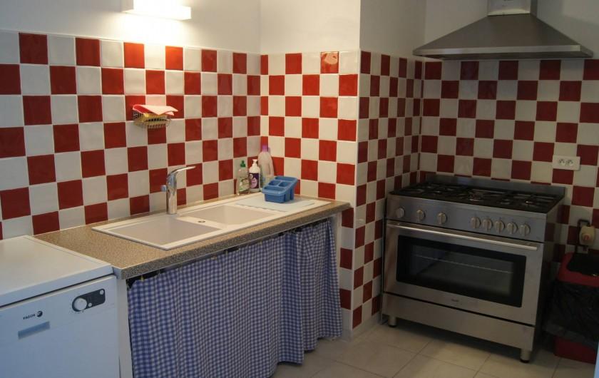 Location de vacances - Gîte à Ponthoile - la cuisine  gîte Les Prés Salés