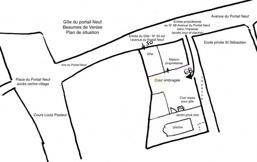 Location de vacances - Gîte à Beaumes-de-Venise - Plan de situation