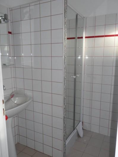 Location de vacances - Chambre d'hôtes à Plouguiel - salle d'eau wc pingouins