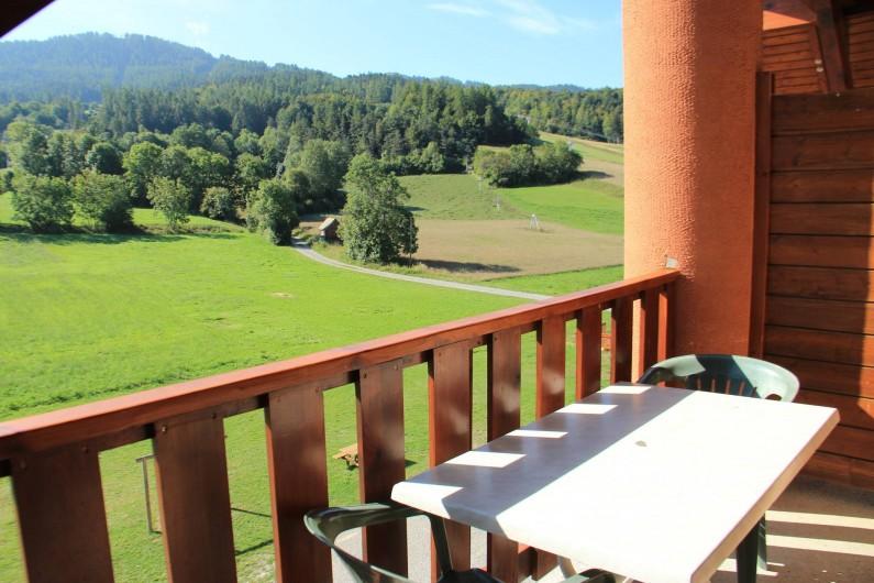 Location de vacances - Appartement à Ancelle - Vue sur les champs l'été