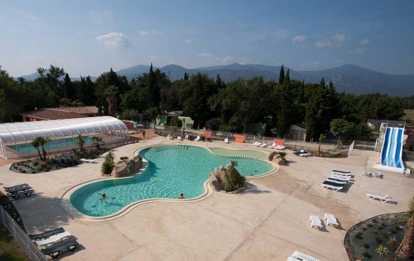 Location de vacances - Camping à Argelès-sur-Mer - Parc aquatique vue du ciel