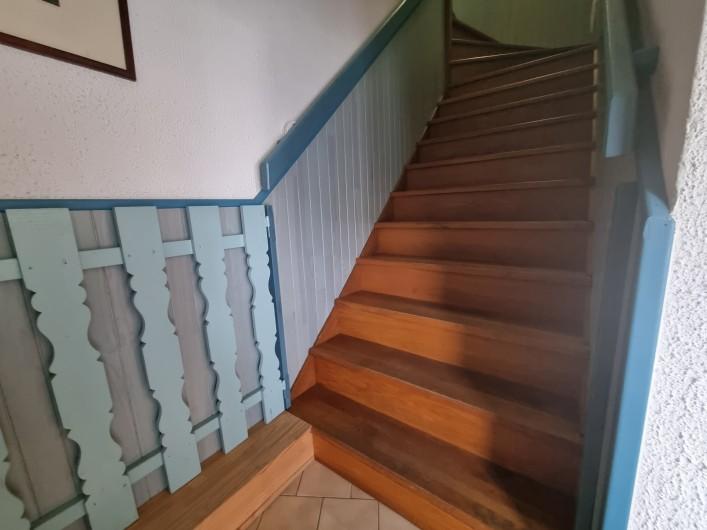 Location de vacances - Villa à Rivedoux-Plage - Chambre 2 : lit 190x90  matelas ferme et impeccable