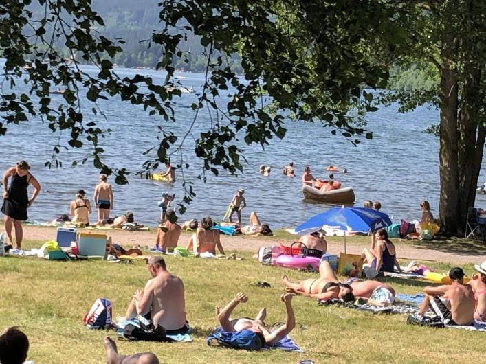 Location de vacances - Chalet à Anould - Baignade au lac Xonrupt Longemer