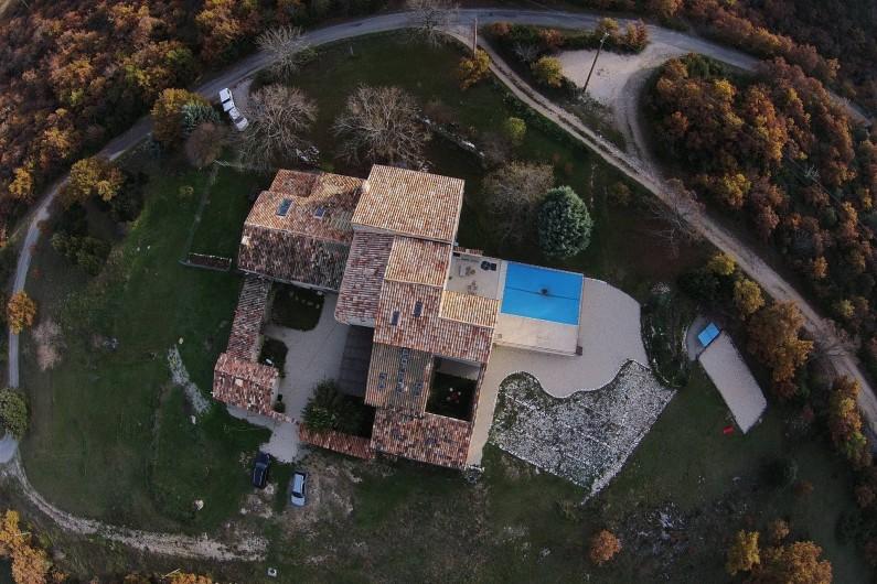 Location de vacances - Gîte à Oppedette - Vue d'un drone