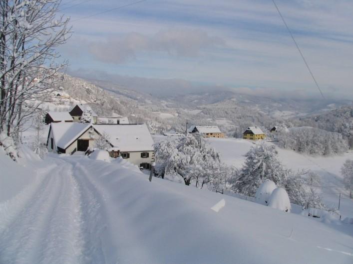 Location de vacances - Gîte à Orbey - Gîte en hiver