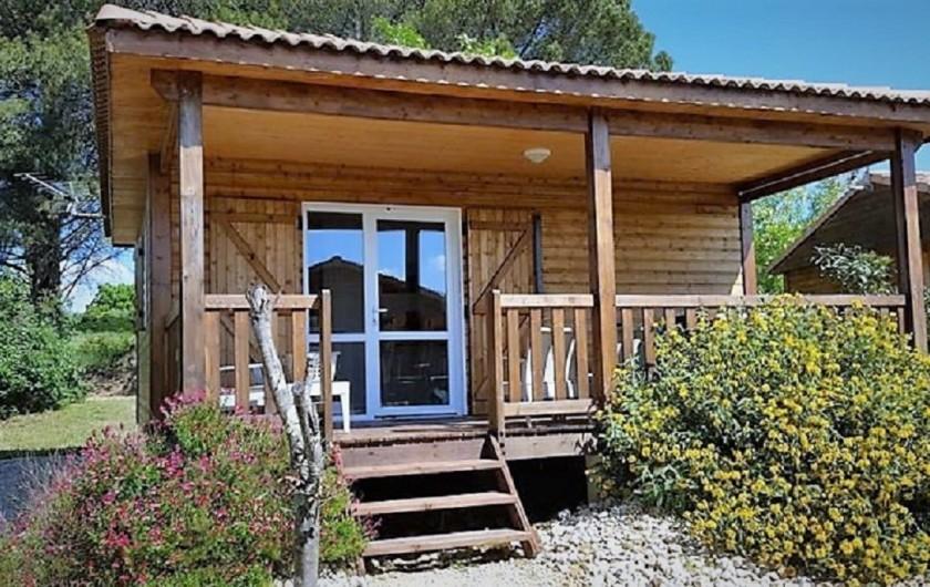 Location de vacances - Gîte à Ruoms - chalet Chardonnay 35m² + terrasse 15m²