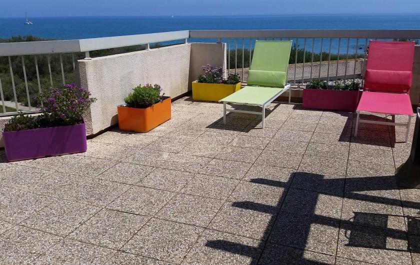 Location de vacances - Appartement à Saint-Cyprien Plage - Terrasse