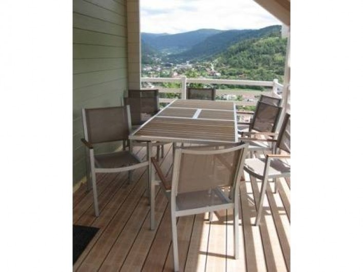 Location de vacances - Chalet à La Bresse - La terrasse /  Le Chalet Vert /  La Bresse