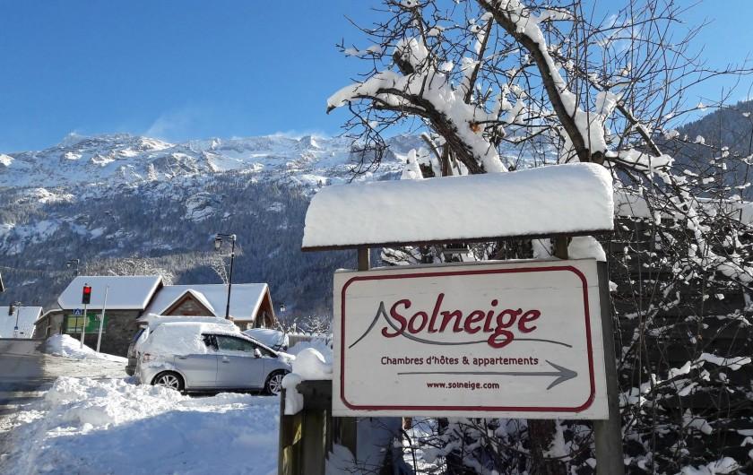 Location de vacances - Chalet à Vaujany - Chalet Solneige sign