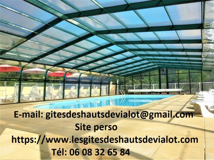Location de vacances - Gîte à Auriac-du-Périgord - Intérieur Piscine 5m/10m