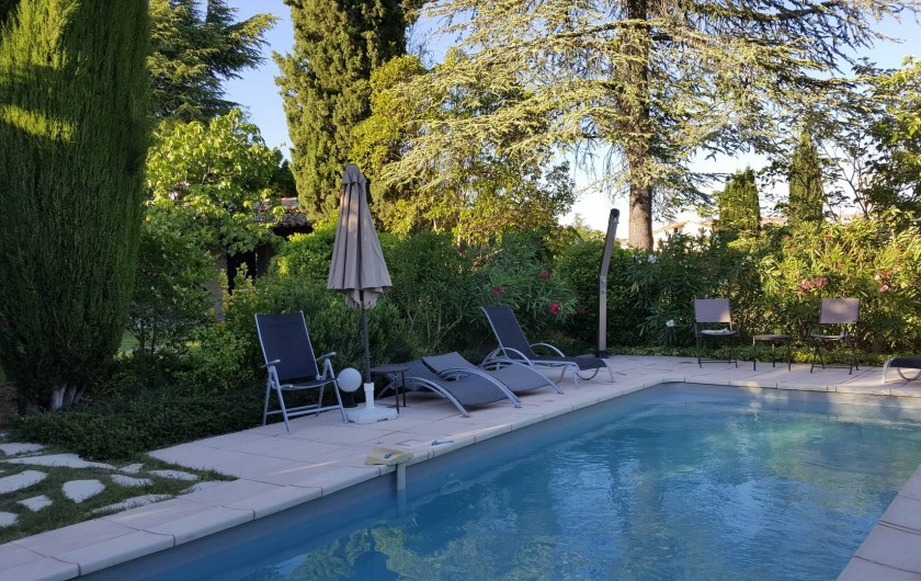 Location de vacances - Villa à Forcalquier - La piscine, vue vers l'Est