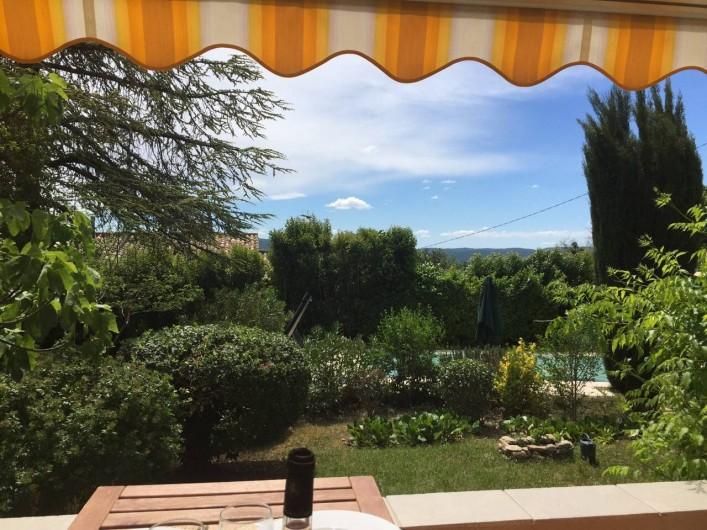Location de vacances - Villa à Forcalquier - Vue depuis la terrasse