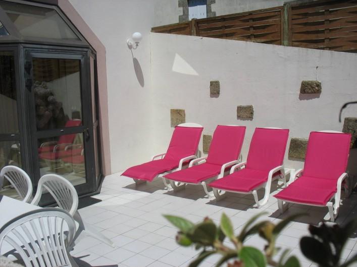 Location de vacances - Gîte à Clohars-Carnoët - Terrasse Gîte N°5 7/9 pers